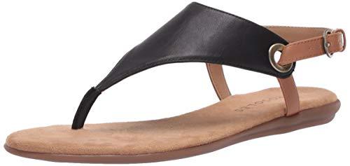 Aerosoles Women's Thong Sandal Flip-Flop, Black, 8 B (M)