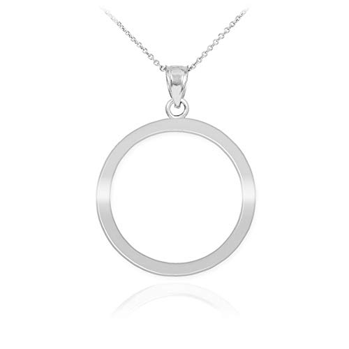 Sterling Silver 925 Circle of Life Karma Pendant Necklace (Available Chain Length 16'- 18'- 20'- 22')