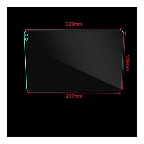 ZHIXIANG Auto Vetro temperato Pellicola Protettiva Adesivo Fit for TEYES CC2 9 Pollici Autoradio Multimedia Video Giocatore di Navigazione GPS Android 8.1 (Color Name : Transparent)