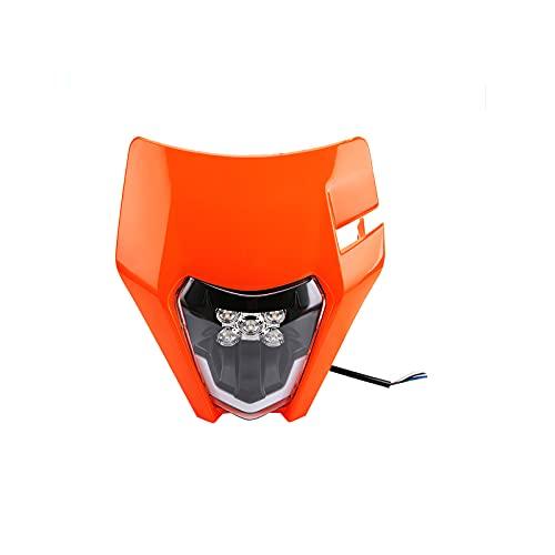Faros delanteros LED modificados para motocicletas Faros delanteros universales para motocicletas de campo traviesa con cuatro modos de paquete de accesorios de instalación de luces para motocicletas