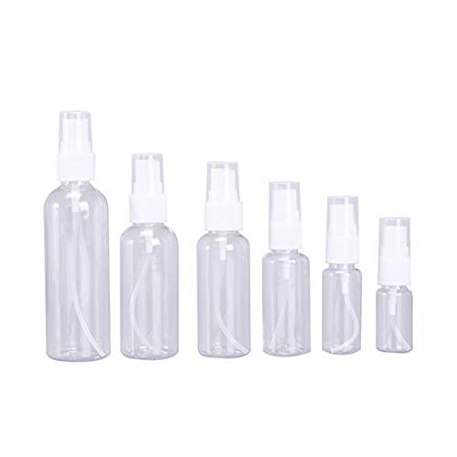 Botella de loción 1 unids botellas de pulverización vacías transparentes 5 ml / 10 ml / 15ml / 30ml / 50ml / 100ml de plástico mini recipiente recargable recipiente vacío contenedores cosméticos El pl