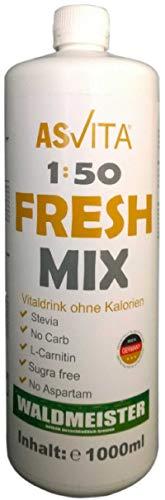 ASVita Fresh Mix 50 Vital Drink, Waldmeister, 1L Flasche
