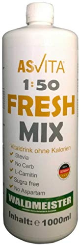 ASVita Fresh Mix 50 Vital Drink, Waldmeister, 1L Flasche