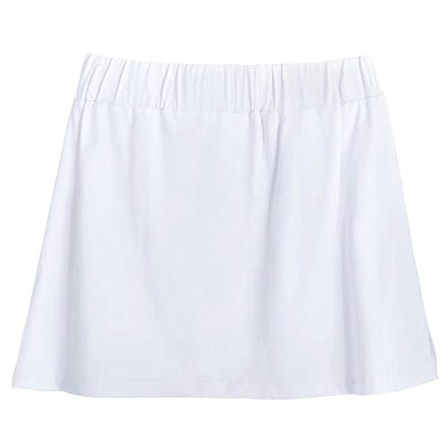 Mini Falda Extensible De 2 Piezas para Mujer, Falda De Media Longitud...