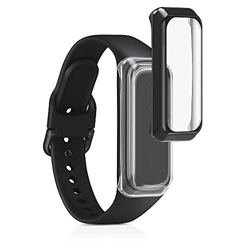 kwmobile 2X Protezione Schermo Compatibile con Samsung Galaxy Fit 2 - Cover Display Fitnesstracker - Non Include Il Tracker