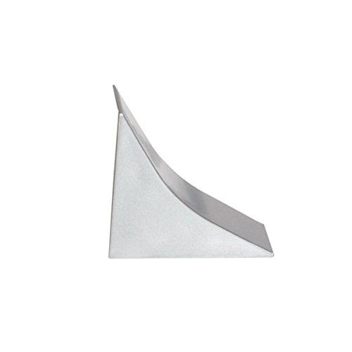 HOLZBRINK Terminale in PVC coordinate per alzatine piano di lavoro colore alluminio satinato 23x23 mm