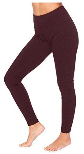 Funky Boutique Damen Leggings aus Baumwolle : Farbe - Braun : Größe - 10 M