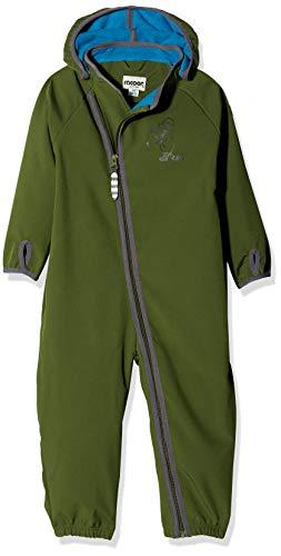 Racoon Baby-Jungen Mikkel Softshelloverall (Wassersäule 5.000) Schneeanzug, Grün (Chivo Chi), 86