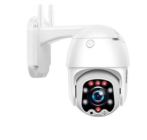 Cámara PTZ Camara IP 3G 4G sim Card 1080p Vigilancia IP166 Exterior WiFi Motorizada 5 X Zoom Visión Nocturna 30M Detección de Movimiento Monitorización Remota vía PC/Smartphone/Tableta Cámara + TF64G