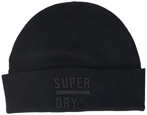 Superdry Surplus Silicone Beanie Gorro de Punto, Negro (Black 02a), OS para...