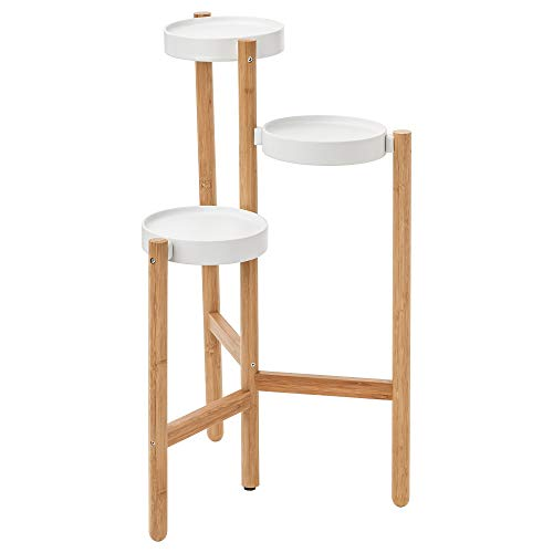 IKEA SATSUMAS 402.581.54 - Soporte para plantas (bambú), color blanco