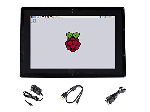 Waveshare 10.1 inch IPS Monitor for Raspberry Pi 4 Capacitive Touchscreen Display 1280×800 HDMI LCD (B) with case Support All Raspberry Pi/Windows 10/8.1/8/7 PC Driver Free with 170° View Angle