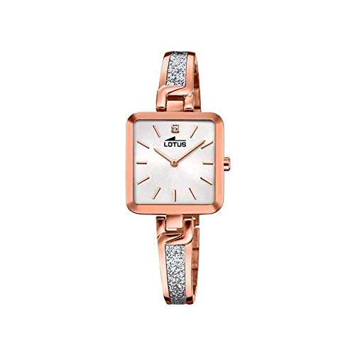 LOTUS Reloj Modelo 18727/1 de la colección Bliss, Caja de 27,50/26,00 mm Plata con Correa de Acero Rose para señora