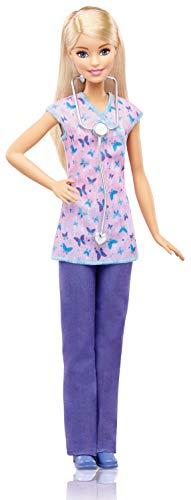 Mattel Barbie DVF57 - Ich wäre gern Krankenschwester Puppe, Ankleidepuppen-Zubehör