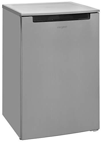 Exquisit Kühlschrank KS 15-4 A+++ Inoxlook |Standgerät | 115 L Nutzinhalt | inox, edelstahloptik