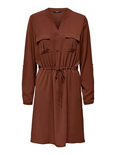 ONLY Damen Kleid V-Ausschnitt 36Henna