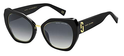 Marc Jacobs Marc 313/G/S FQ Gafas, BLACK/GY GREY, 53 Mujeres