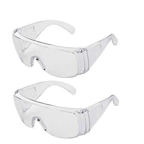 2 Pack Safety Glasses Protective Goggles Anti Fog, Anti Splash, Anti Scratch