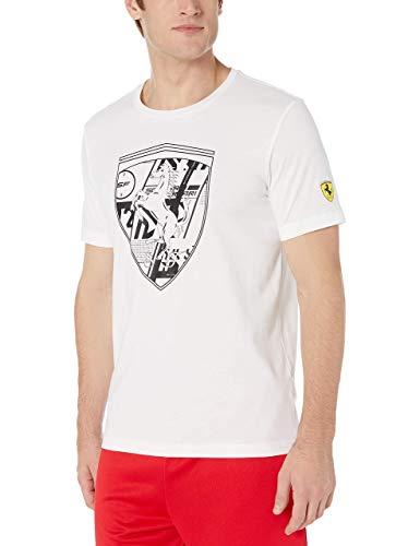 PUMA Scuderia Ferrari Big Shield T-Shirt pour Homme Blanc Taille S