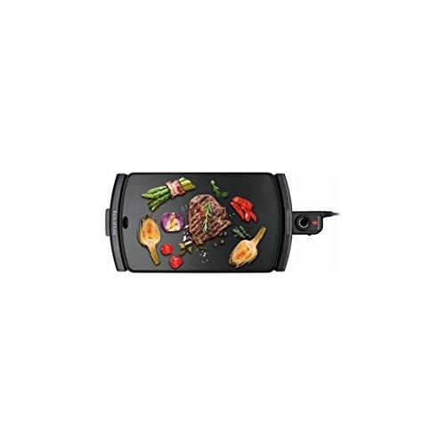 Taurus Galexia–Piastra per arrostire Lisa, 2500W, Vassoio per grassi, Termostato Regolabile 47,7 x 29 cm nero
