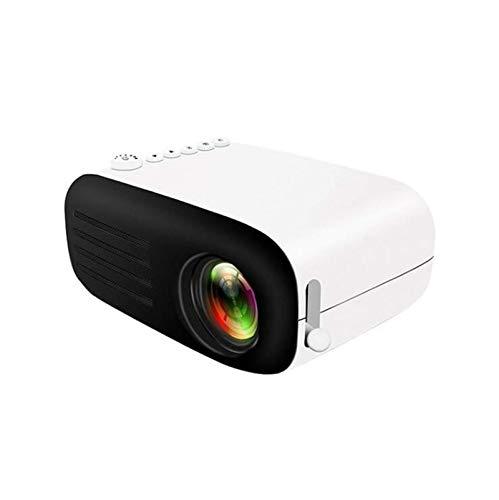 SHUNFENG-EU Mini proyector LED 1080P LED, Utilizado en Smartphone Home Theater Teléfono móvil Full HD Proyector Micro Proyector, TV Compatible, HDMI, AV, VGA, PS4, Smartphone (Color : Black White)