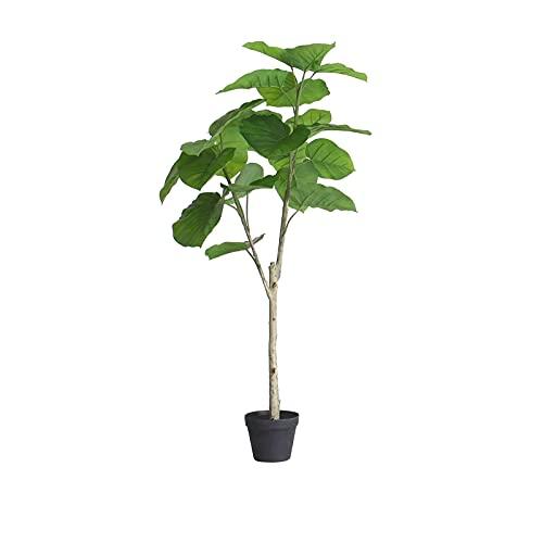 YGB Planta de bonsái Árbol de bonsái Artificial Hoja de corazón Artificial Ficus Planta en Maceta , 27/47 Pulgadas Falso corazón Falso Hoja Banyan Tree, Plantas de imitación Maceta para casa