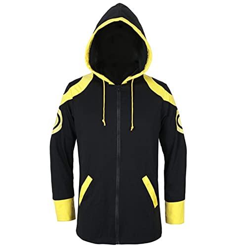 Anime Hoodie Mystic Messenger 707 Chaqueta Camisa con Capucha Extreme SaeYoung Choi Cosplay Disfraz de Hombre, (S-L)