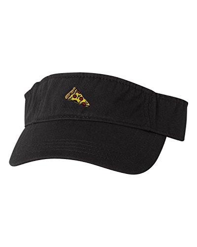 Go All Out Adjustable Black Adult Pizza Embroidered Visor Dad Hat