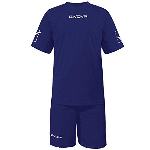 Givova Mc Kit Calcio Unisex - Adulto, Blu, XL