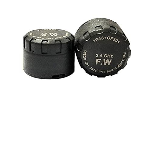 YEZIO Sistema de monitoreo de presion en Llantas, Sistema de monitoreo de presión de neumáticos Bluetooth de la Motocicleta TPMS Teléfono móvil App Detección de Alta sensibilidad del Sensor Externo.