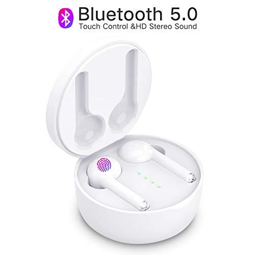 Bluetooth Kopfhörer In Ear Kabellose Kopfhörer True Wireless Kopfhörer Touch Control Bluetooth 5.0 Headset mit Eingebaut Mikrofon Wiederaufladbare Tasche für IOS Android