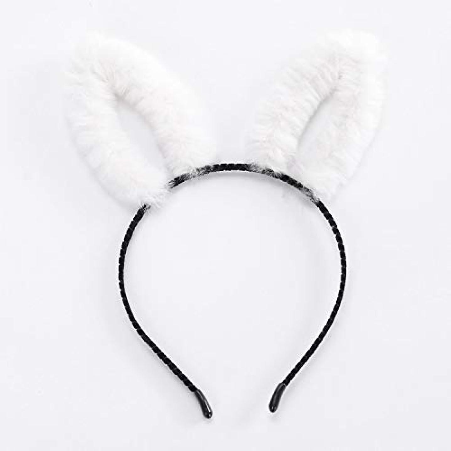 ウイルス思慮のないレンダーChaopeng 豪華な長いウサギの耳カチューシャパーティーパーティーカチューシャ