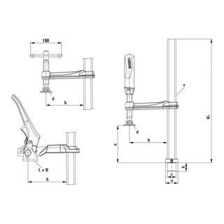 Bessey TW16-20-10K Klemmelement für Schweißtische TW16 20/10 cm