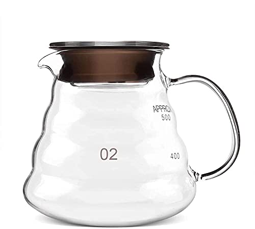 ZXYDD Cafetera – Decantador de café de 500 ml resistente al calor para café y té, accesorio para barra de hervidor (color: transparente, tamaño: 12 x 8 cm) (color: transparente, tamaño: 12 x 8 cm)