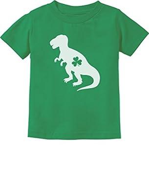 Irish T-Rex Dinosaur Clover St. Patrick's Day Gift Toddler/Infant Kids T-Shirt 5/6 Green