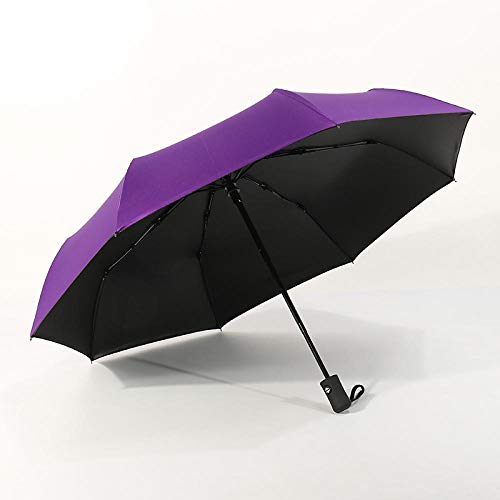 Ultra Light Mini Anti-UV Paraplu, Volledig automatische drievoudige vinyl paraplu, opvouwbare paraplu, Winddichte Travel Mini Paraplu Vouwen Onbreekbaar