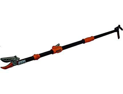 Garten Primus 01410 - Tijeras de jardín Extensibles (137,5 x 9 x 3,1 cm), Color Negro y Naranja
