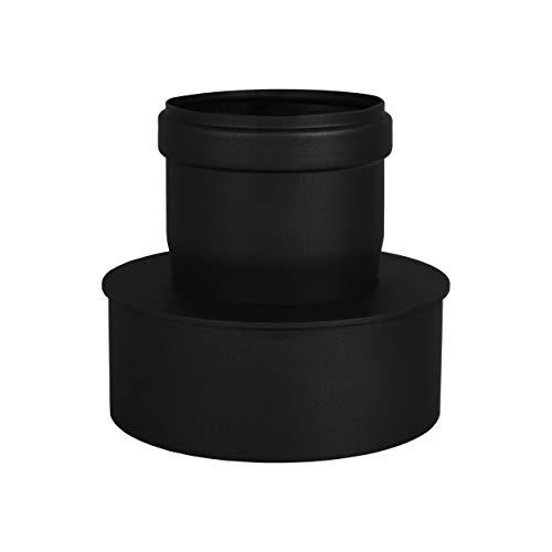 LANZZZAS pellepijp uitbreiding van Ø 80 mm naar Ø 130 mm in zwart pelletpijp pelletkachel pelletkachelpijp kachelpijp