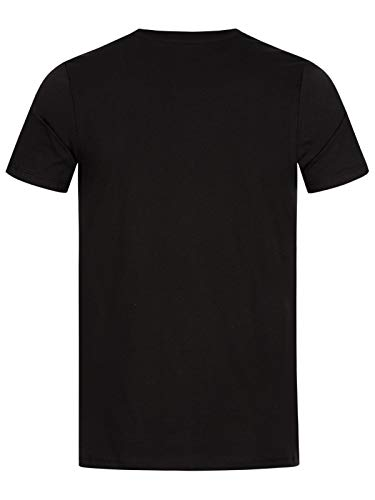 JACK & JONES SS Crew Neck - Camiseta Clásica para Hombre, color Negro, Grande