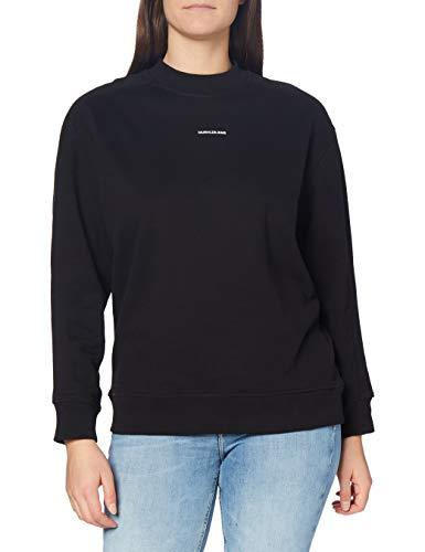Calvin Klein Jeans Unisex Micro Branding CN Suter, CK Negro, XL para Mujer