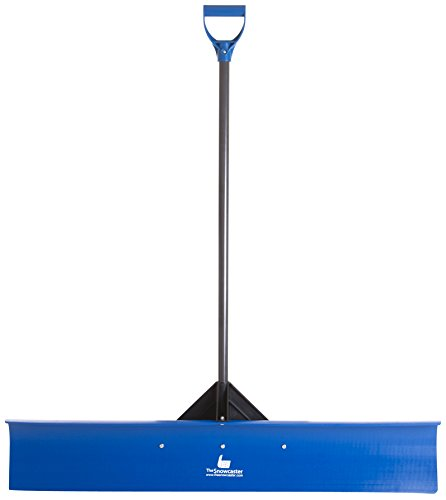 The Snowcaster 48UPH Pusher Shovel with 48-Inch Heavy Duty Plastic Blade, Blue