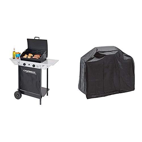 Campingaz Xpert 100 L Barbacoa gas, parrilla gas con dos quemadores compactos + Landmann 0276 Grill Chef Series - Funda protectora para barbacoa, 110 X 130 X 60 cm, Negro