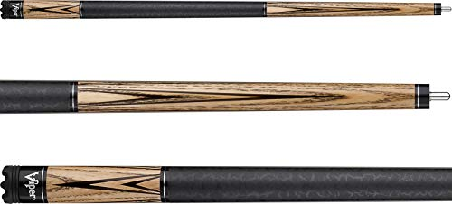 Viper Elemental 58' 2-Piece Billiard/Pool Cue, Natural Ash...