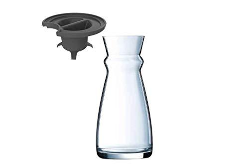 Arcoroc Fluid Karaffe mit schwarzem Kunststoffdeckel 750ml, ohne Füllstrich, 1 Stück