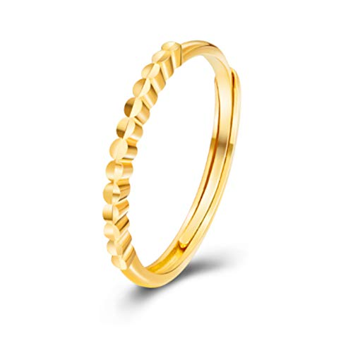 ZOSUO Flower Gold Ring Women Flower Sterling Ring Gold Finger Jewelry for Women Adjustable Size Smooth Open