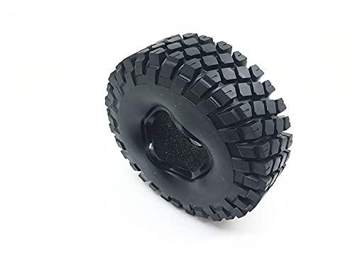 UJETML (H) Llantas de Barras Rocas de 1,9 Pulgadas de 114 mm Neumáticos de Ruedas para 1:10 RC Rock Crawler Coche Ruedas SCX10 D90 Negro Ruedas y neumáticos hexagonales de 17 mm. (Color : 1pc)