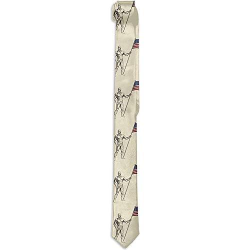 Anna-Shop Herren Krawatte Skizze eines Fahnenträgers Mode Seide Skinny Ties Einzigartige Geschenk Krawatten