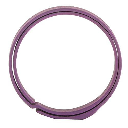 Yeelur Llave, Anillos de Cadena de Doble Capa de aleación de 20 mm para el hogar al Aire Libre(Púrpura)