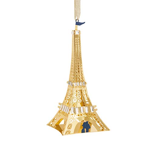 Hallmark Signature Premium Christmas Ornament, Eiffel Tower, Metal and Gemstones