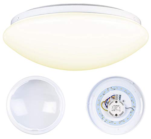 Luminea Wandleuchte: LED-Wand- & Deckenleuchte mit 720 Lumen, Ø 26 cm, 12 Watt, warmweiß (Deckenlampe LED)